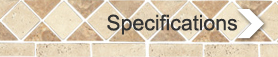 Travertine series specifications