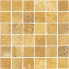 TRA0230 - 2x2 Giallo Unfilled & Tumbled Mosaic