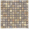 TRA0182 - 1X1 Gold Coast Unfilled & Tumbled Mosaic