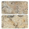 TRA3680 - 3x6 1X1 Gold Coast Unfilled & Tumbled