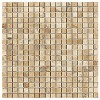 TRA5857 - 5by8 X 5by8 Travertine Latte Polished & Straight Edge