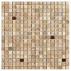 TRA585713 - 5by8x5by8 Travertine Latte Polished & Straight Edge W-Glass