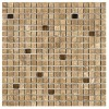 TRA581714 - 5by8x5by8 Travertine Noce Polished & Straight Edge WGlass