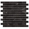 MARM123 - 1x2 MarbleToros Black Brick Mosaic Polished