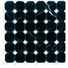 MARO232 - 2x2 Octagon Toros Black - Dolomite White -Dot- Polished