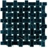 MARBA32 - 1x2 Basketweave Toros Black - Dolomite White -dot- Polished