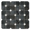MAROC32 - 2x2 Hexagon Toros Black - Dolomite White -dot- Polished